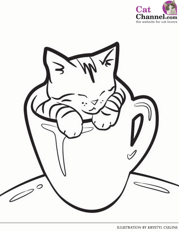 600x776 Cat Coloring Pages Prepossessing Cats Coloring Pages Zvershtina