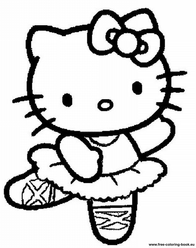 634x800 Coloring Pages Hello Kitty