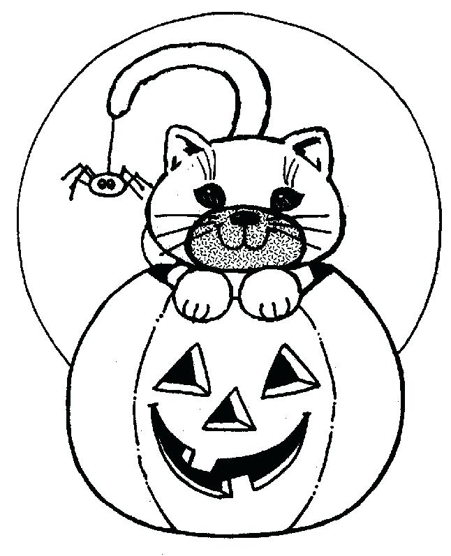 646x797 Cute Coloring Pages Free Printable Halloween Pages To Color Cat