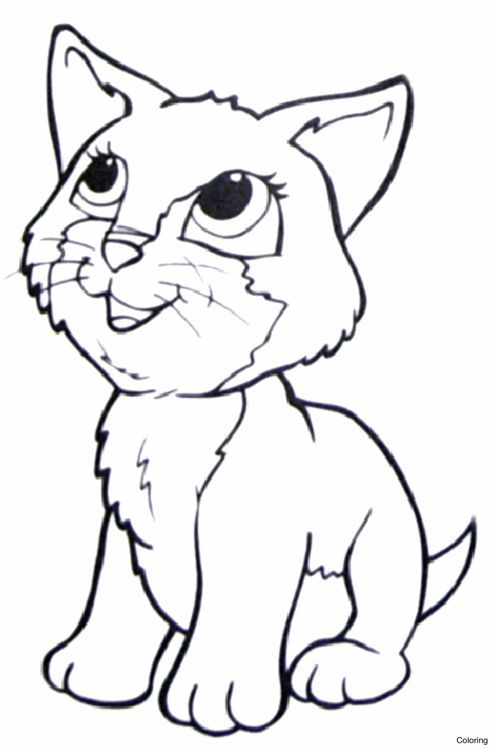 1000x1516 Cute Cat Coloring Pages Kitty Free Printable Friends Diaiz