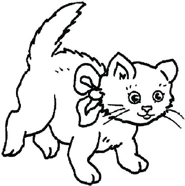 612x614 Cute Cat Coloring Pages Cute Cat Coloring Pages Cute Cartoon Cat