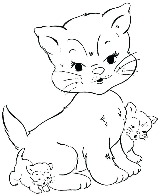 670x820 Cat Face Coloring Page Cute Cat Coloring Pages Face Kitty Cat Cat