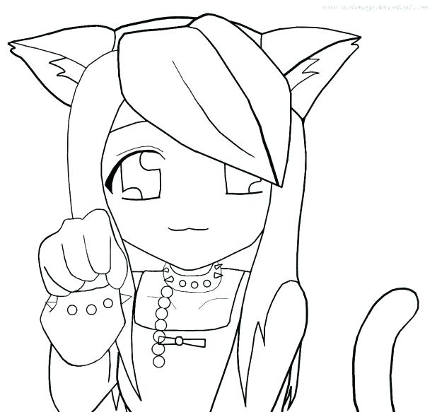 618x583 Comfortable Anime Cat Girl Coloring Pages Contemporary Example