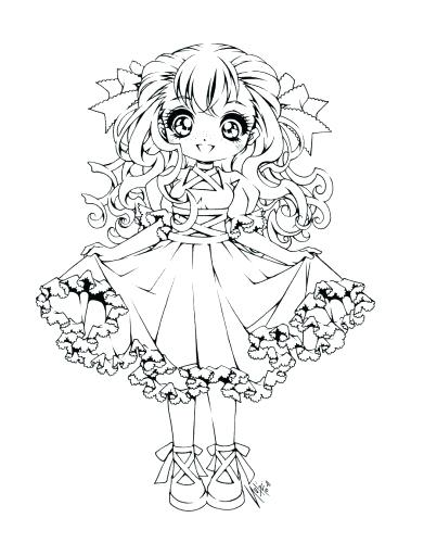 391x500 Cute Anime Coloring Pages Medium Size Of Cute Anime Coloring Pages