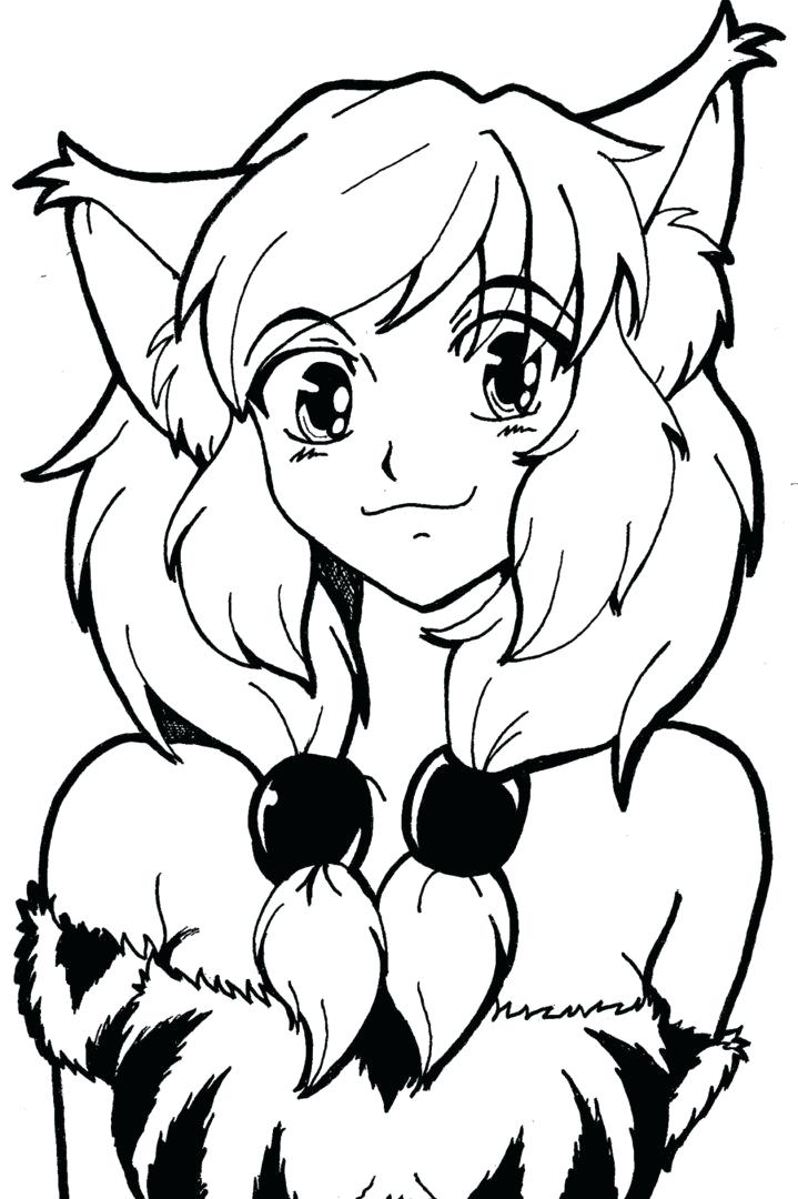 Cat Girl Coloring Pages At Getdrawings Com Free For Personal Use