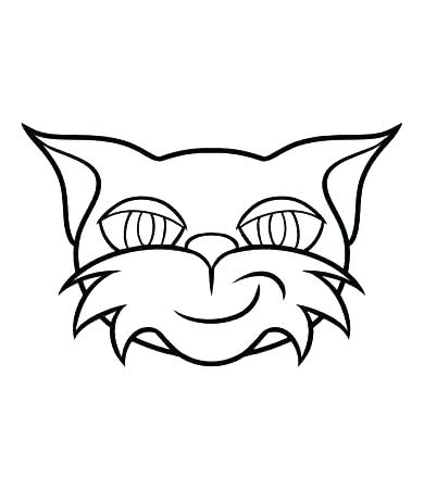 390x450 Cat Head Colouring Page Coloring Of A In The Hat Cute Pages Free