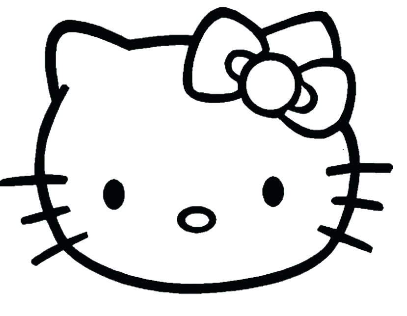 829x644 Cute Kitty Cat Coloring Pages Photo Cat Head Coloring Page Cute