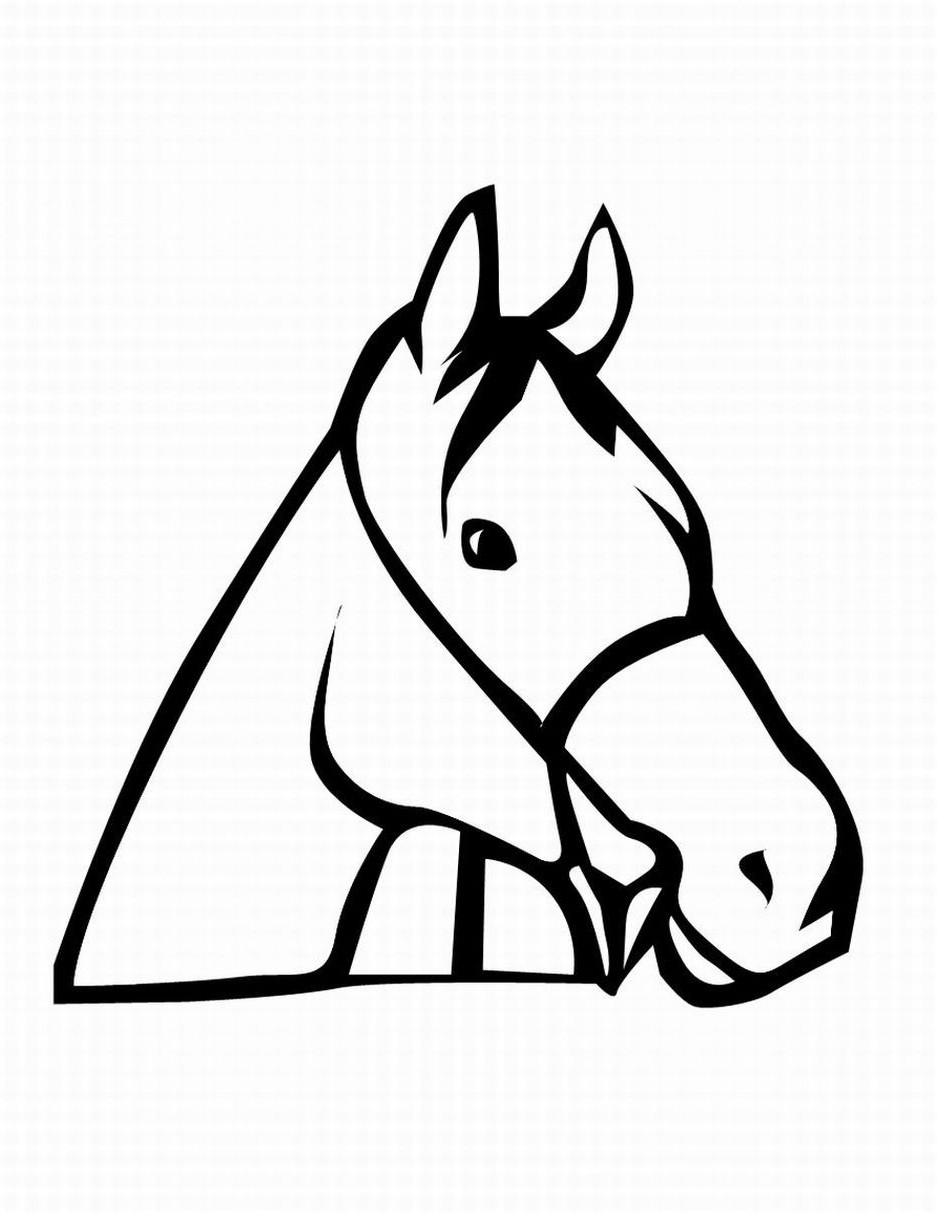 938x1213 Horse Head Coloring Page Dog And Cat Fancy Pages Acpra