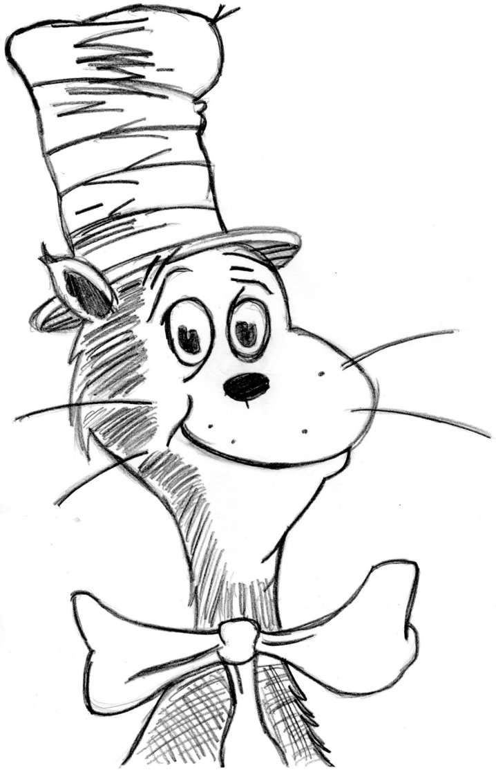 718x1113 Reward Cat And The Hat Coloring Page Practical Face Pioneering