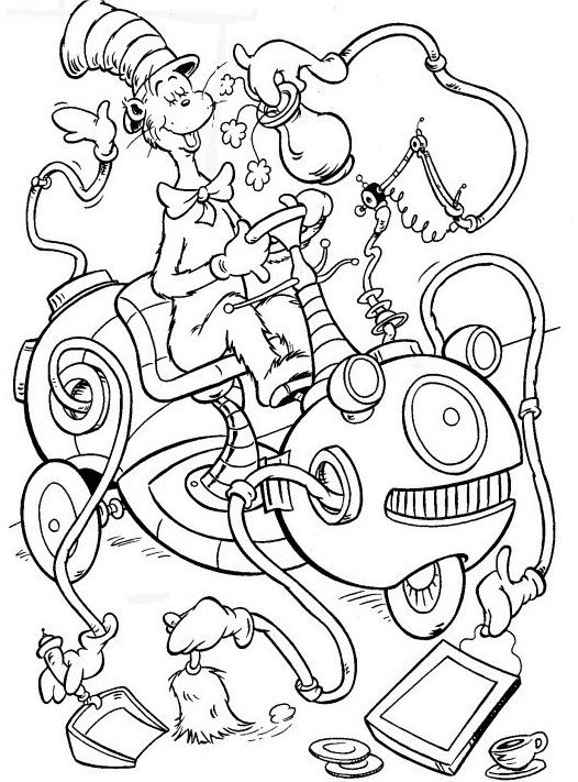 Cat In The Hat Birthday Coloring Pages at GetDrawings ...
