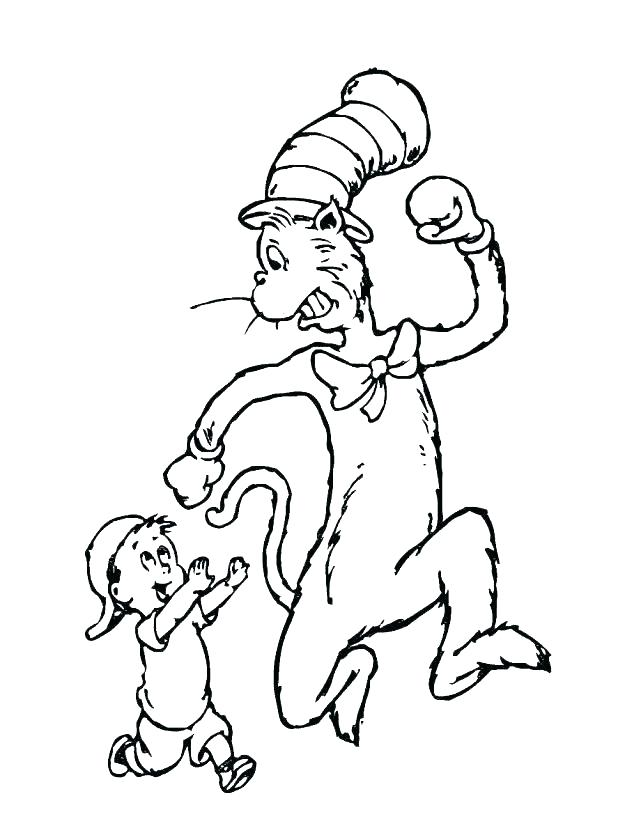 Cat In The Hat Coloring Pages Free at GetDrawings.com | Free ...