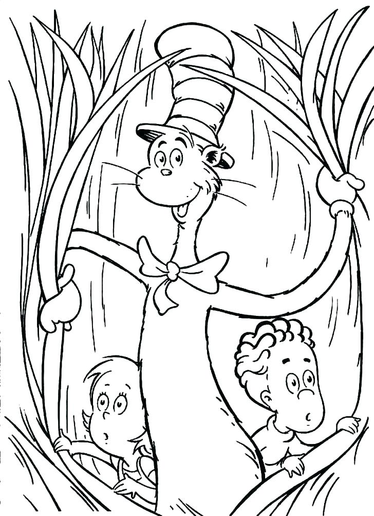 Cat In The Hat Coloring Pages Free Printable At Getdrawings Com