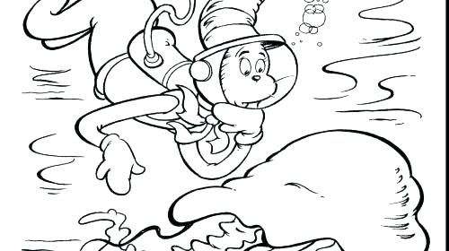Cat In The Hat Coloring Pages To Print