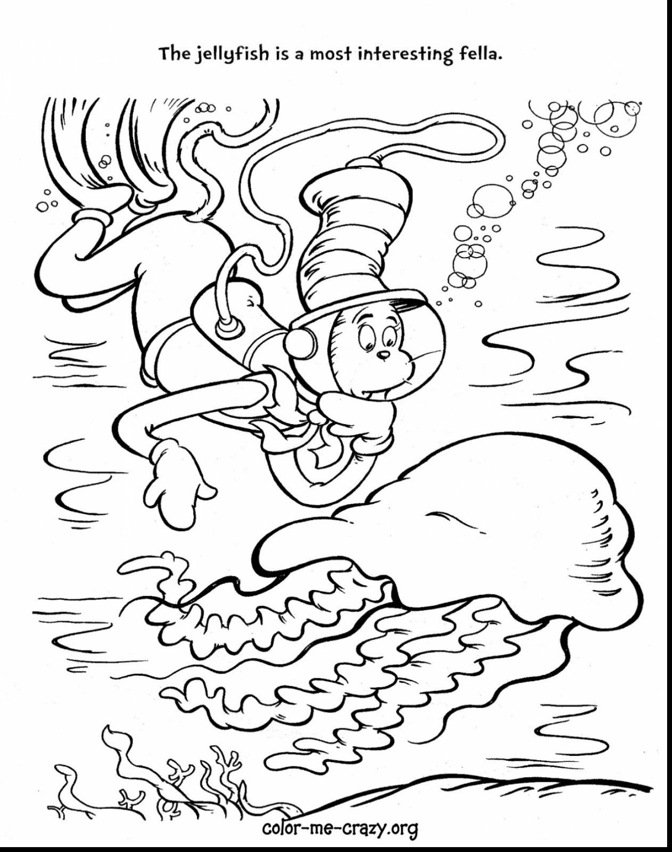 Cat In The Hat Hat Coloring Pages At Getdrawings Com Free For