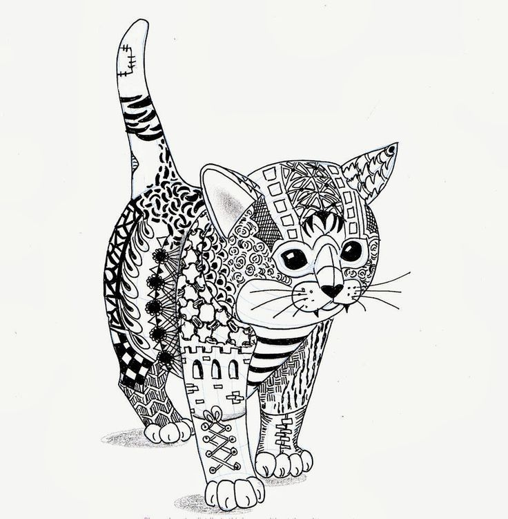 Cat Mandala Coloring Pages