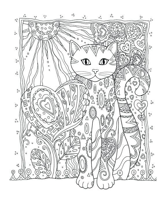 550x710 Mandala Coloring Cat Creative Haven Creative Cats Coloring Book