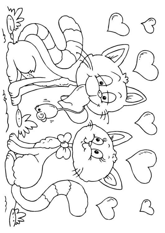 Cat Valentine Coloring Pages