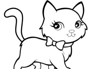 320x240 Coloring Cat Pages Exciting Cute Cat Coloring Pages