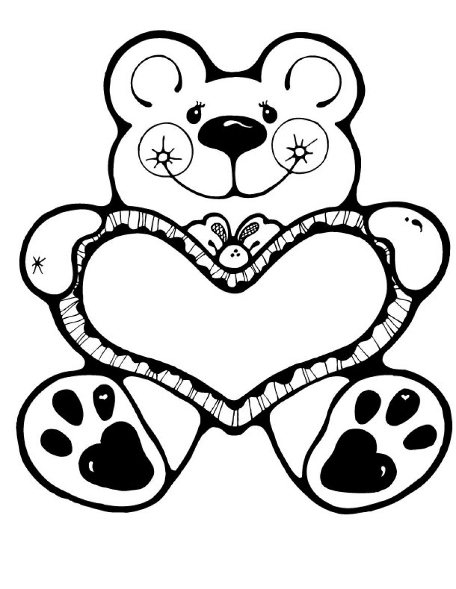 900x1164 Cute Valentines Day Coloring Pages
