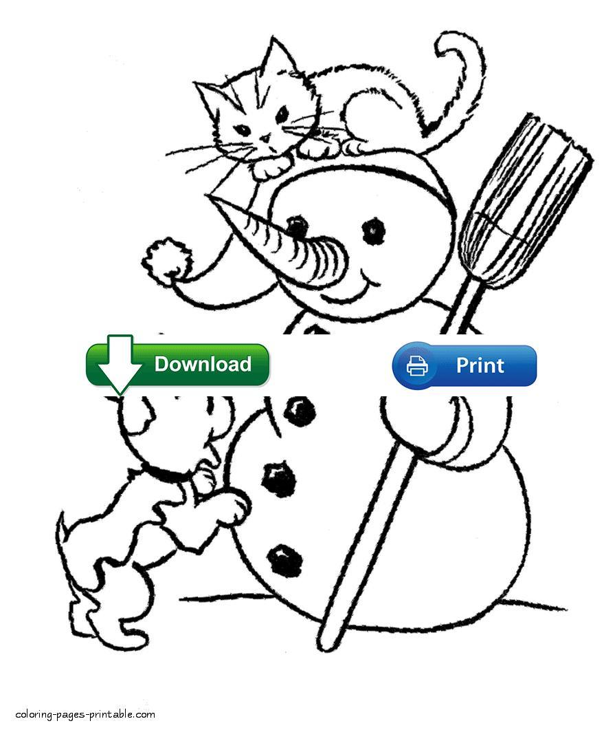 895x1061 Unbelievable Dog And Cat Coloring Pages At Book Online Pict