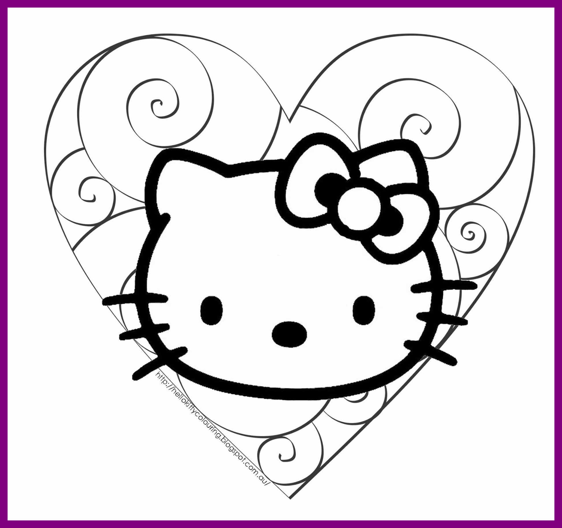 1952x1836 Awesome Hello Kitty Day Coloring Sheets Your Meme Image Of Cat