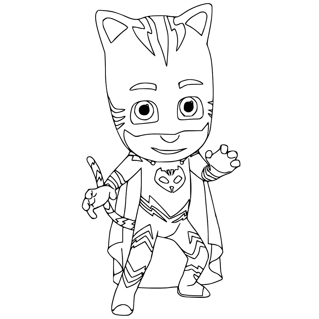 1024x1024 Catboy Colouring Page