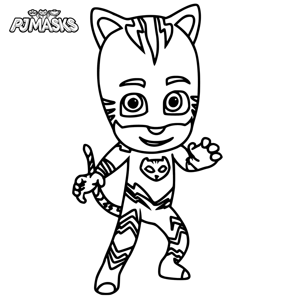 1024x1024 Catboy From Pj Masks Coloring Page
