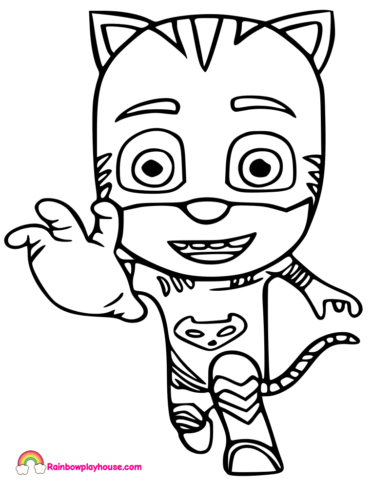 765x990 Pj Mask Catboy Printable Coloring Page