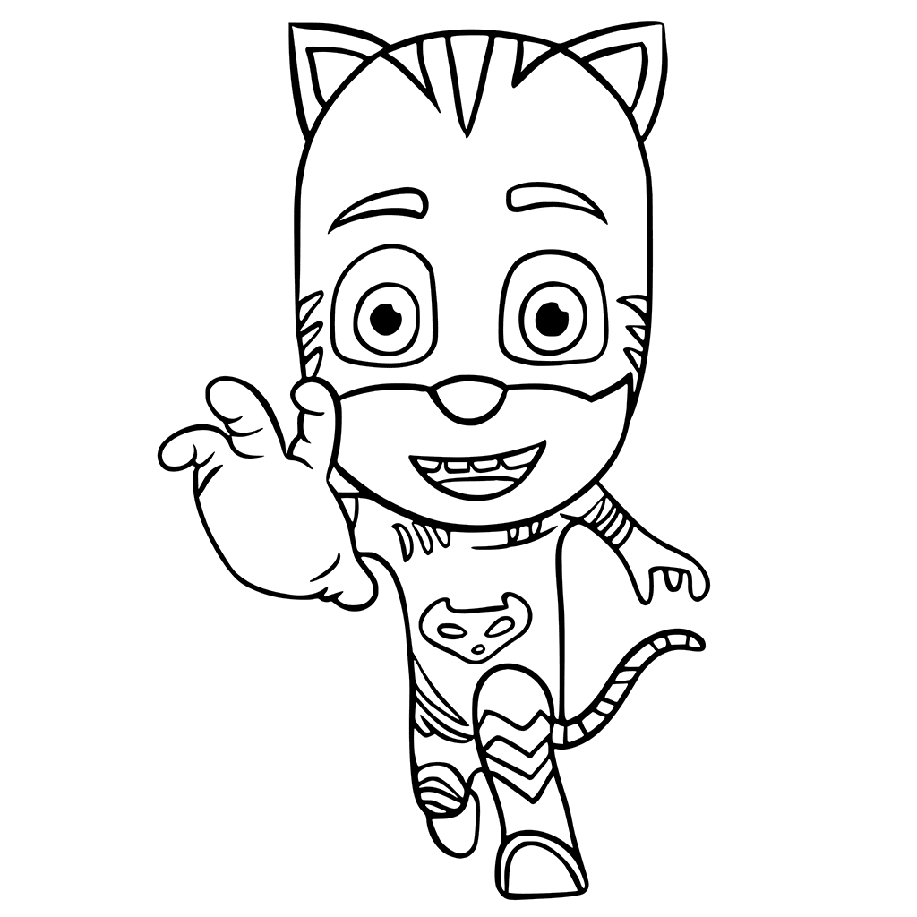 1024x1024 Pj Masks Coloring Pages Catboy Connor