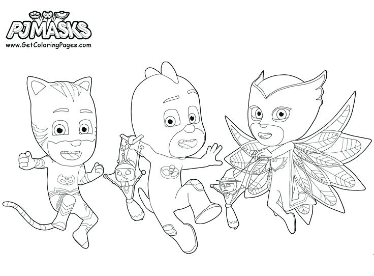 736x542 Pj Mask Coloring Pages Masks Blank Catboy