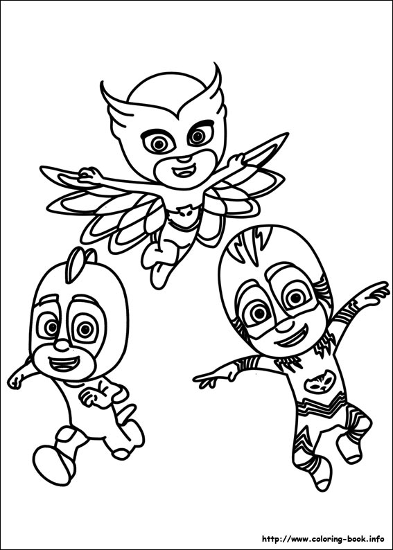 567x794 Pj Masks Coloring Pages Printable For Funny Draw Pict Pajama Hero