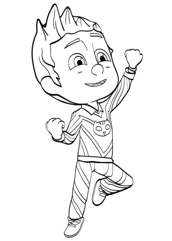 593x832 Catboy Coloring Pages Coloring Page Masks Catboy Pj Masks Coloring