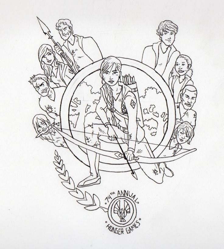 Catching Fire Coloring Pages