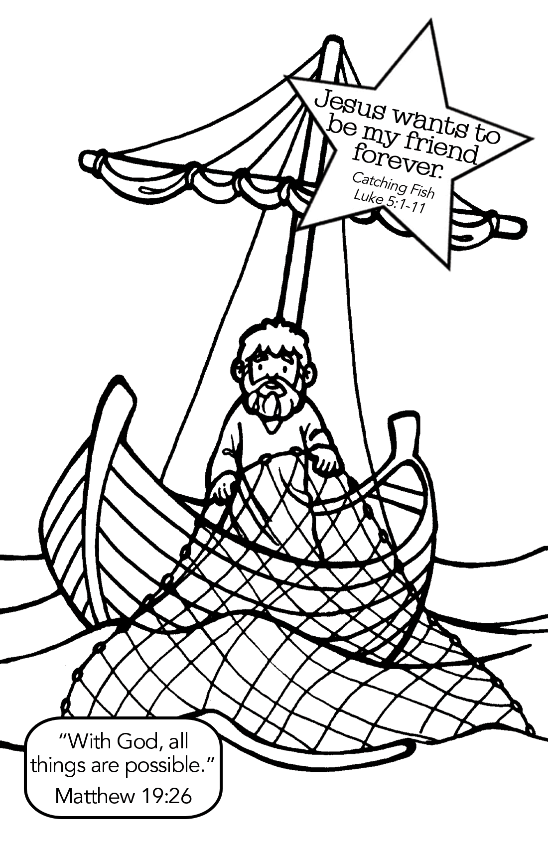 1100x1700 Highest Fishers Of Men Coloring Pages Fish Jes