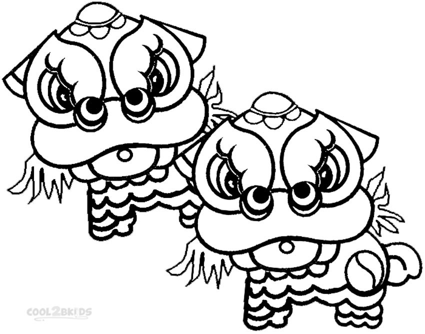 850x668 Printable Chinese New Year Coloring Pages For Kids