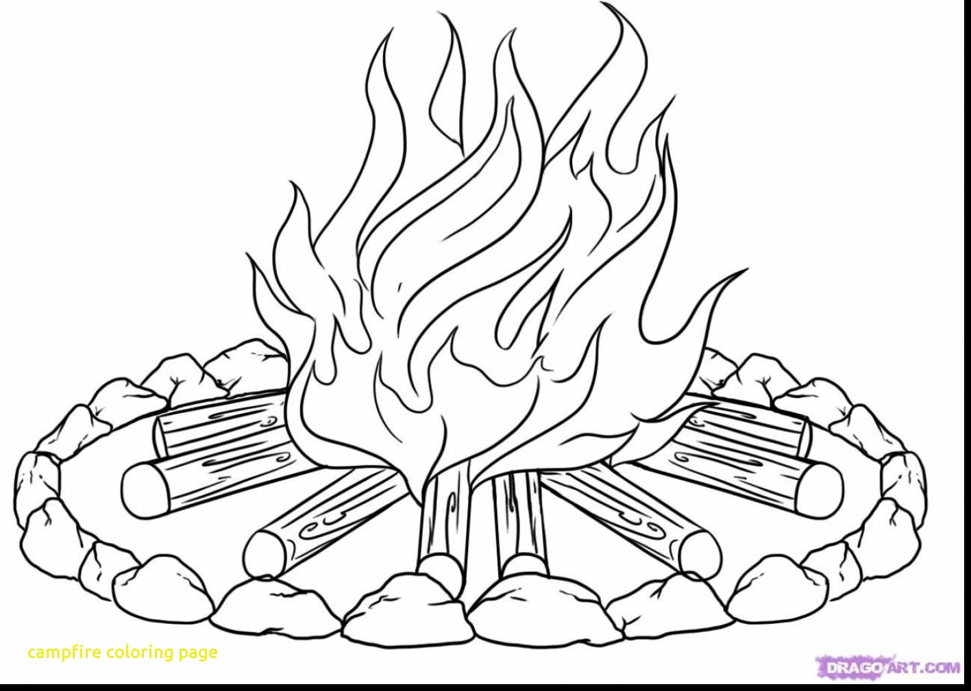 1417x1009 Terrific Campfire Coloring Page Preschool In Tiny Camping Tent