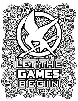 270x350 The Hunger Games Coloring Pages Book Hunger Games, Gaming And Books