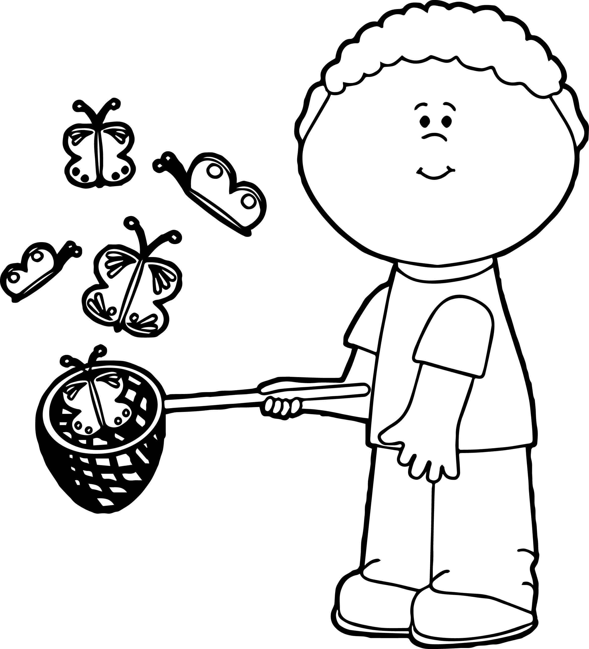 2334x2573 Catching Fire Coloring Pages Beautiful Boy Catching Butterflies