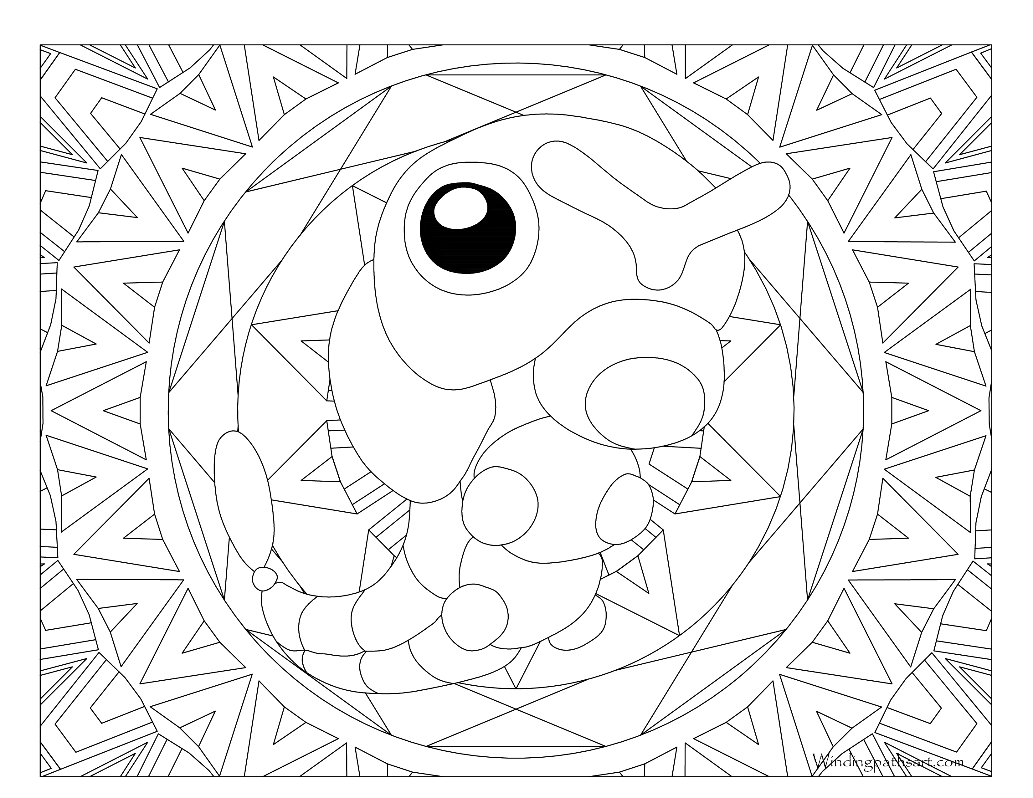 Caterpie Coloring Pages