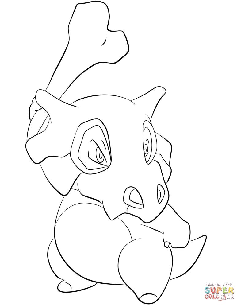 786x1000 Coloring Sheets Pokemon Marowak