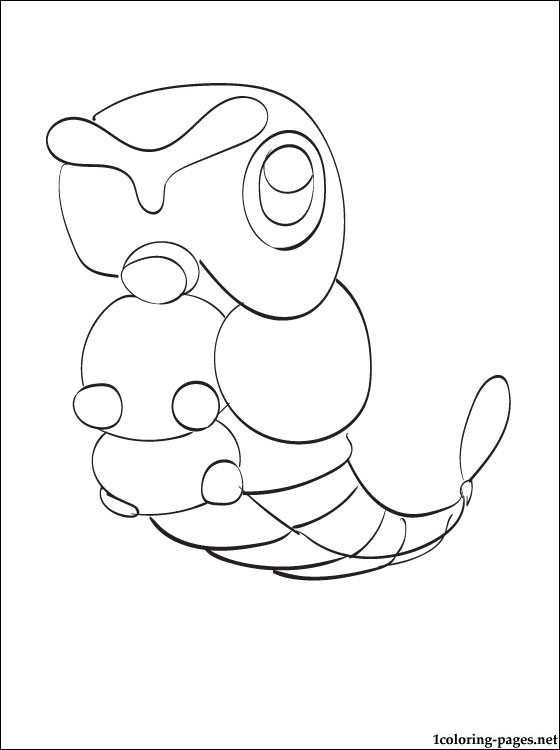 560x750 Coloring Page Pokemon Caterpie Coloring Pages