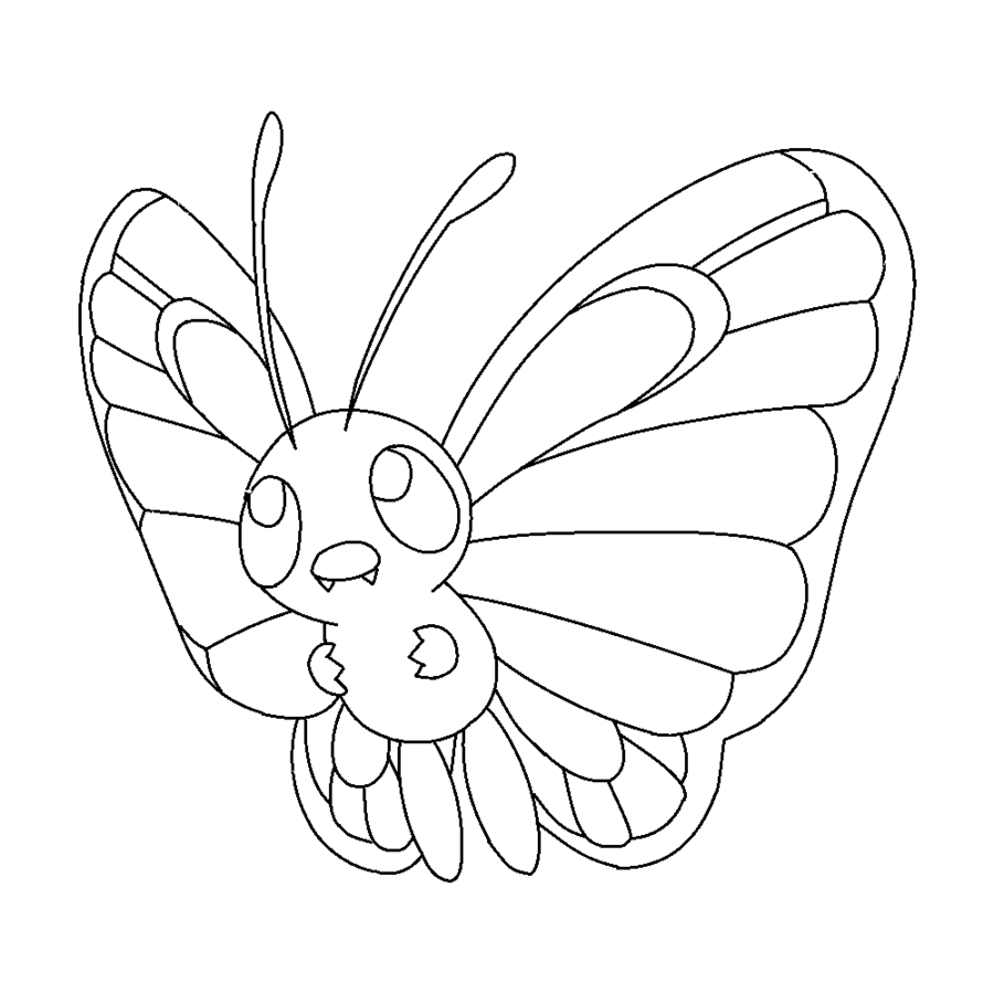 900x900 Pokemon Butterfree Coloring Page
