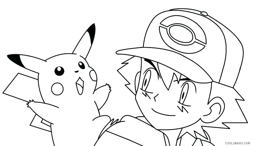 850x490 Pikachu And Caterpie Pokemon Coloring Page Wesmec Site