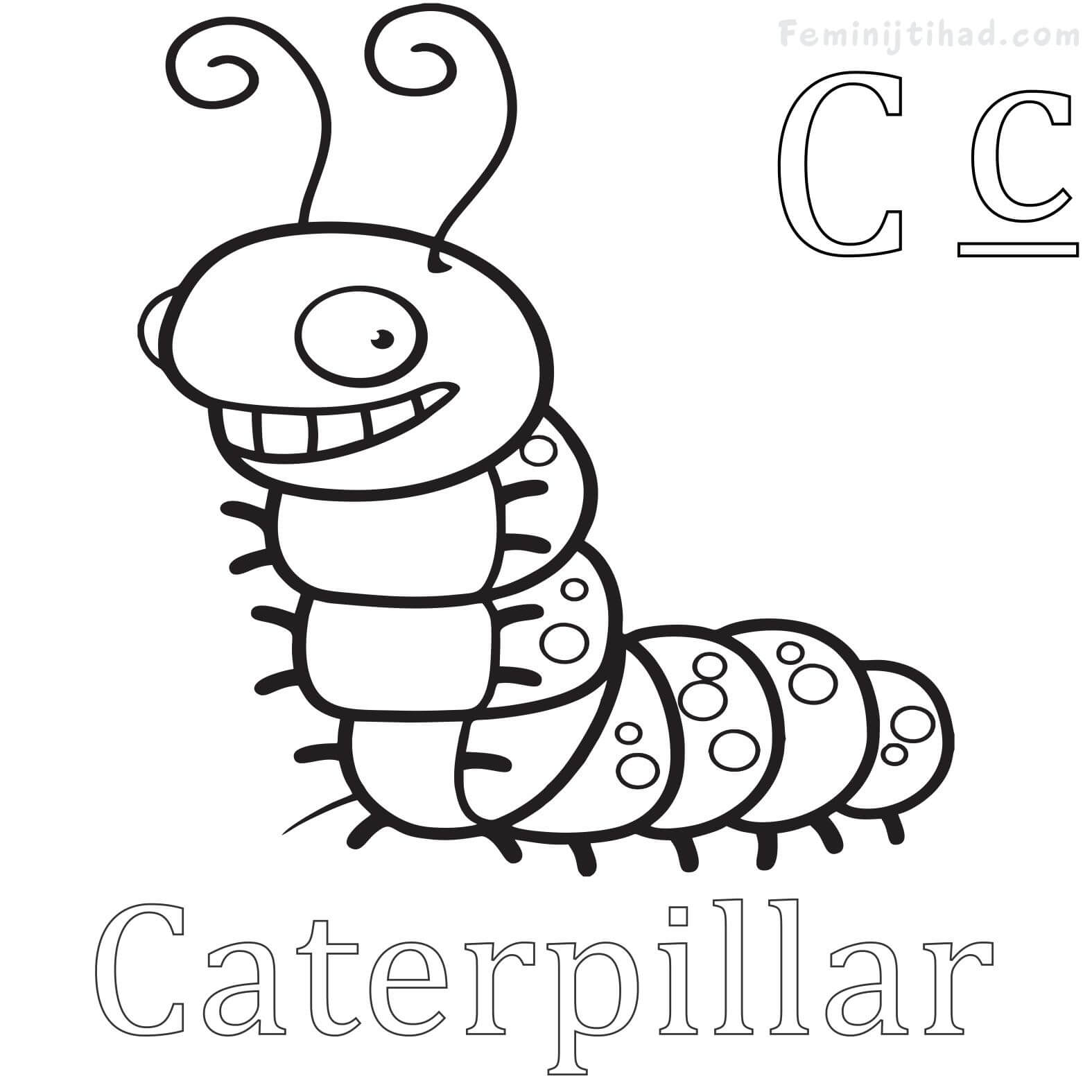 1575x1575 Free Caterpillar Coloring Pages To Print Coloring Pages For Kids