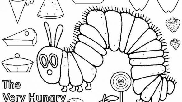 585x329 Very Hungry Caterpillar Coloring Pages Printables Coloring Page