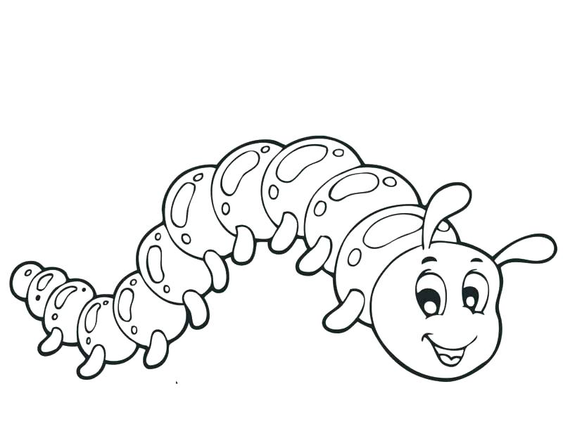 800x600 Caterpillar Coloring Page Hungry Caterpillar Coloring Page