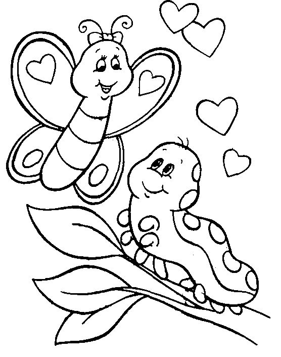 556x705 Caterpillar Coloring Pages