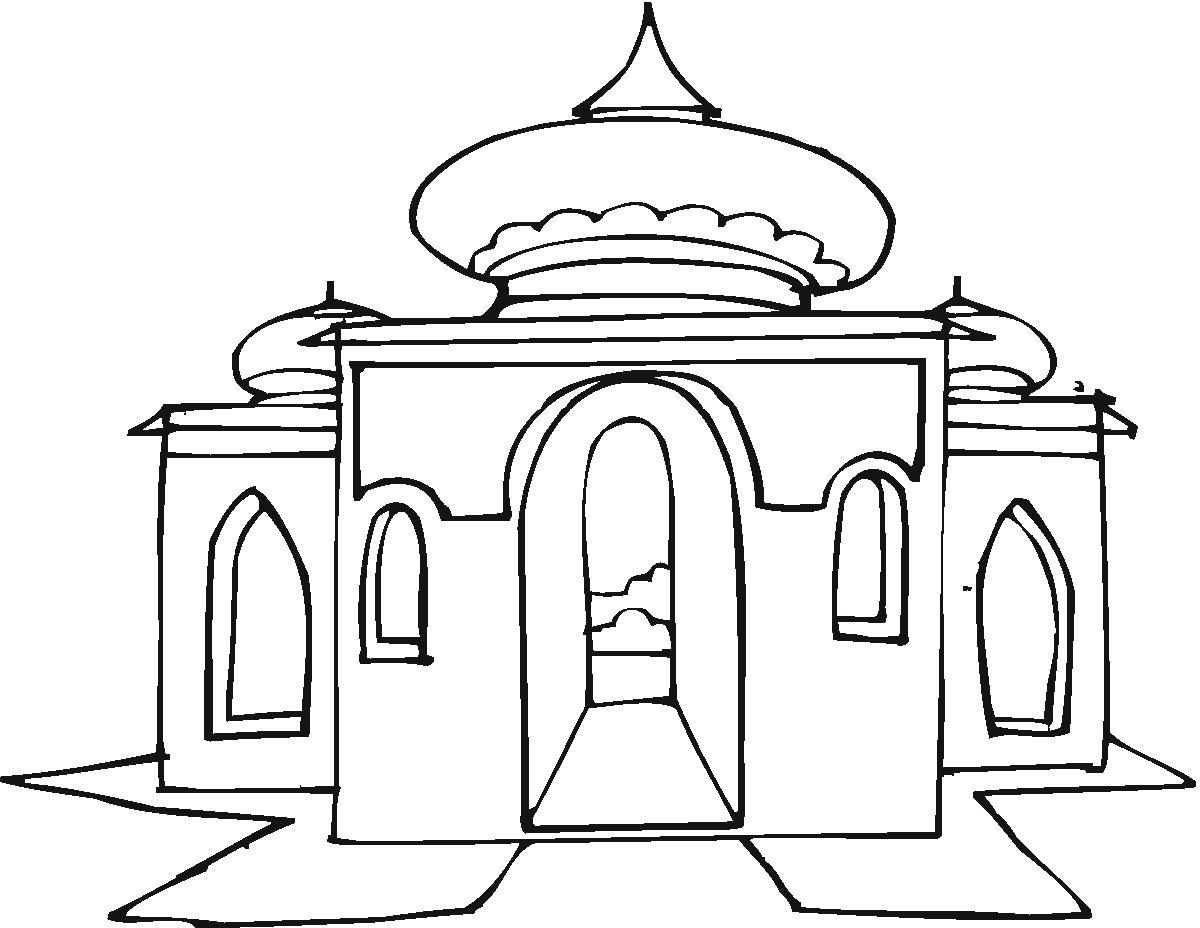 1200x928 Coloring For Kids Staggering Mosque Page Mystery Mosaic Pages