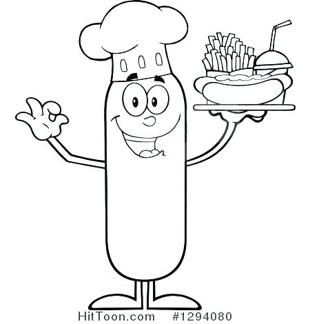 450x470 Coloring Pages French Fries Coloring Page Preview Larger Coloring