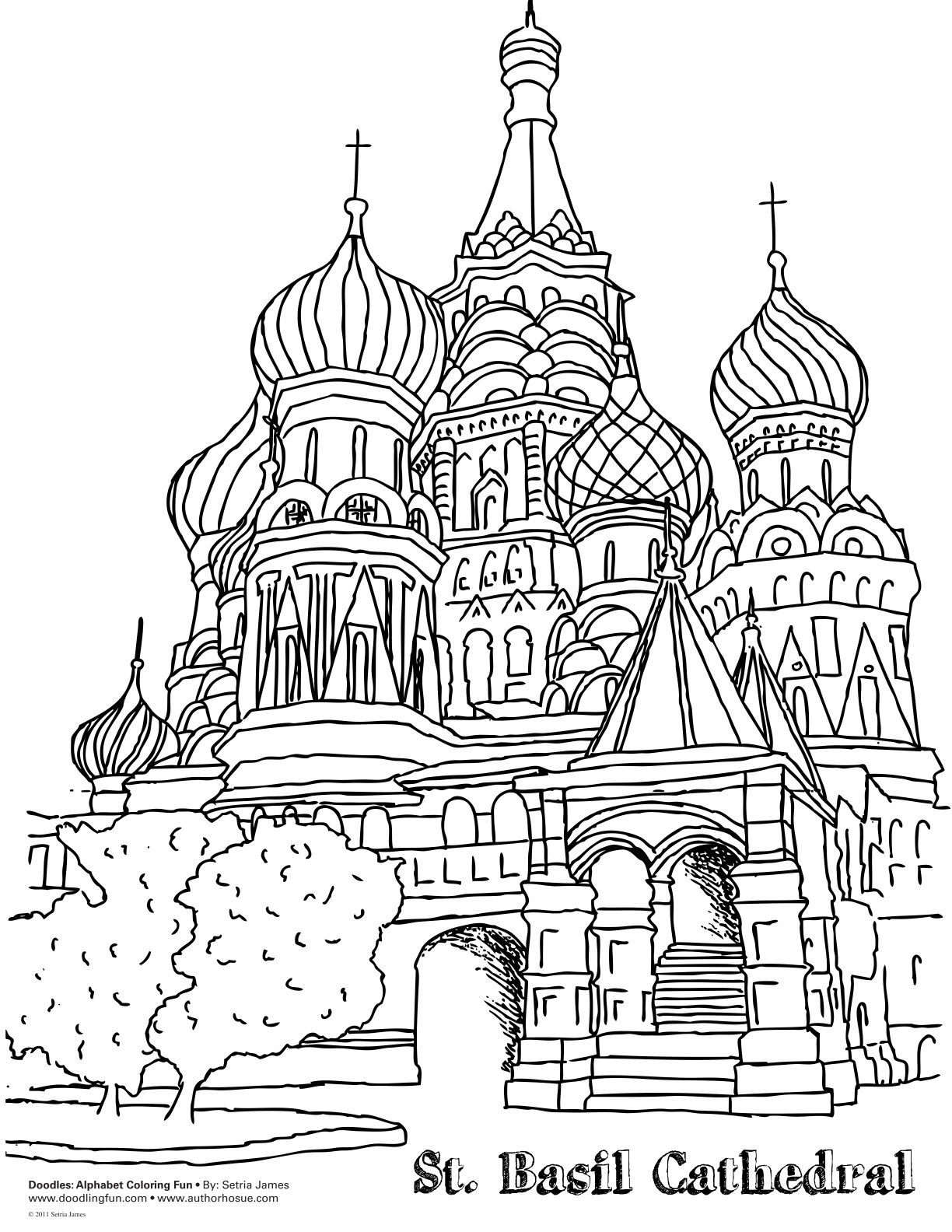 1224x1584 Inspiration Or Coloring Page Russia's St Basil's Cathedral